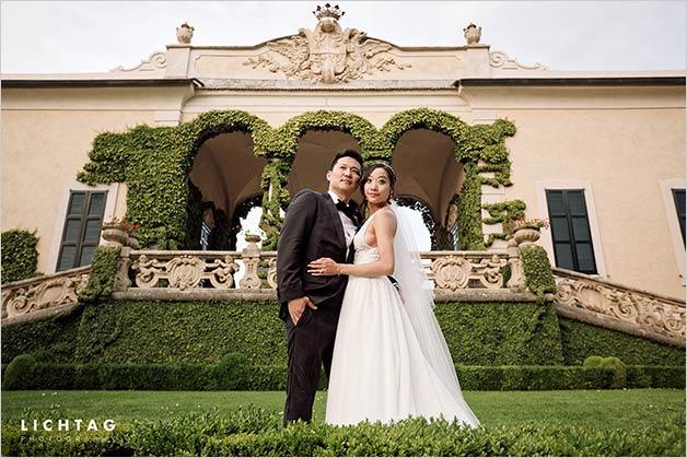 joyful wedding on Lake Como and its amazing Villa del Babianello