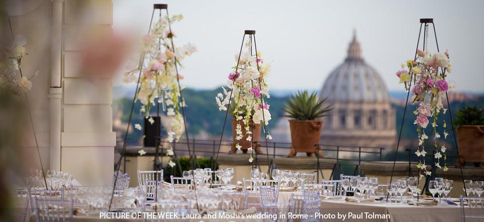 Jewish wedding reception in Rome