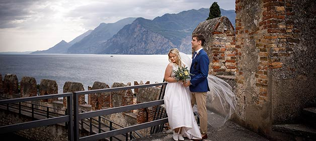A fantastic wedding with a view over Malcesine