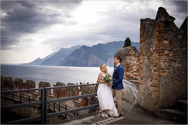 Wedding in Malcesine Castle, lake Garda