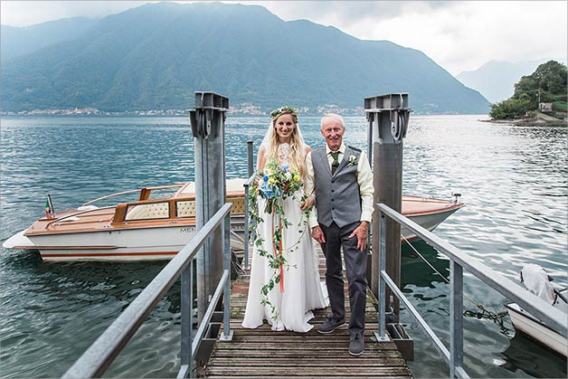 Wedding ceremony in Ossuccio lake Como