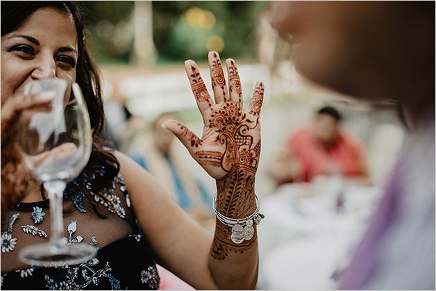 Mehendi party in Stresa Italy