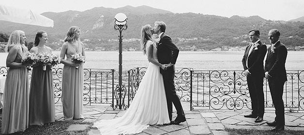 From Sweden to Lake Orta for a romantic ceremony at Villa Gippini