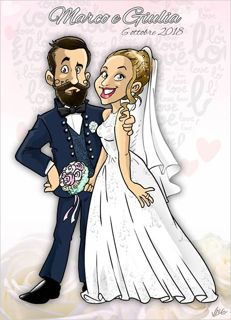 caricatured-portrait-wedding-italy