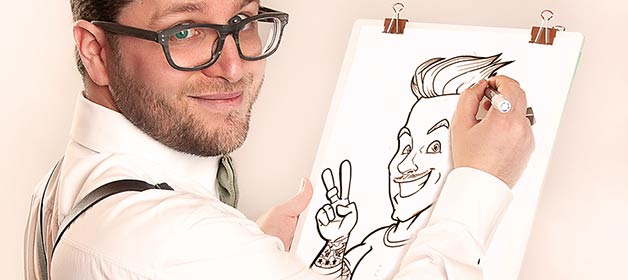 A Caricatured Portrait for your Wedding in Italy