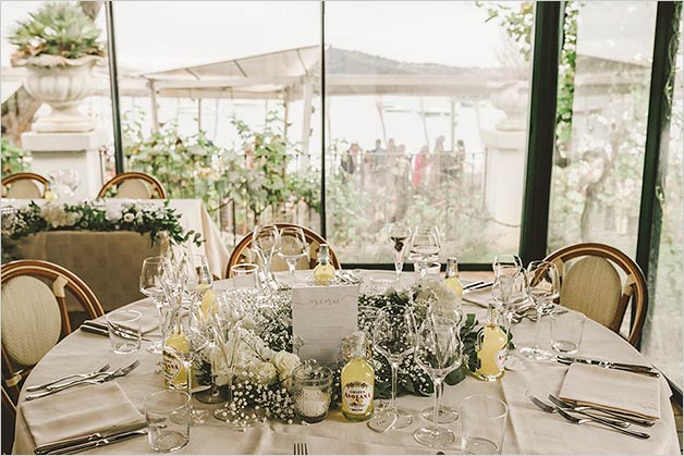 Elegant wedding restaurant Lake Garda