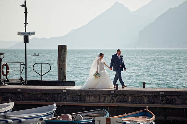 Malcesine Castle wedding on Lake Garda