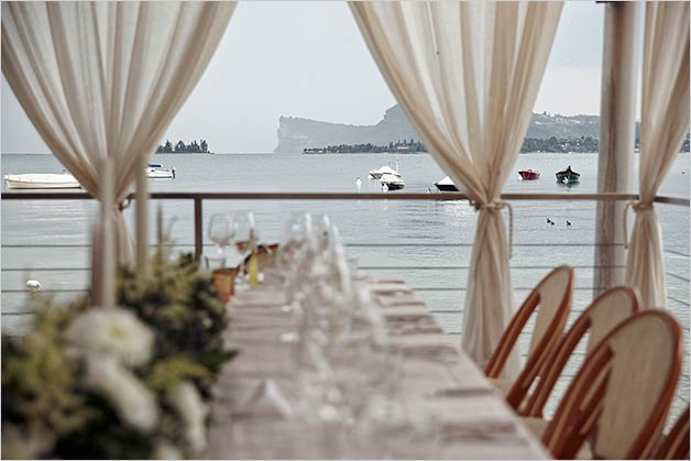 Limone lake Garda wedding reception venue