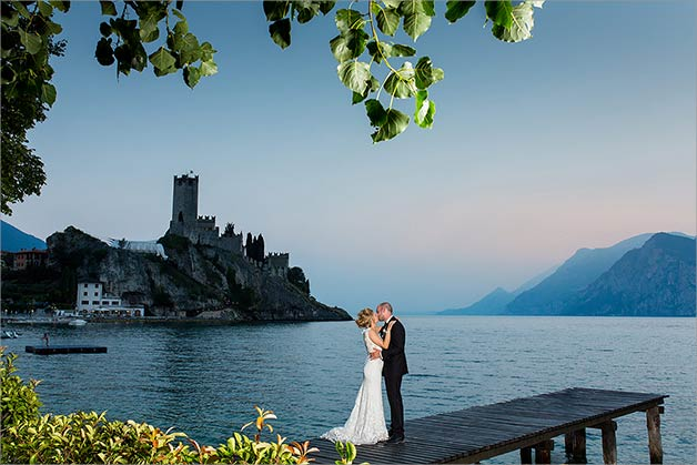 Civil ceremony Malcesine Castle lake Garda