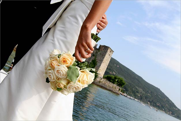 Legal civil ceremony Torri del Benaco lake Garda