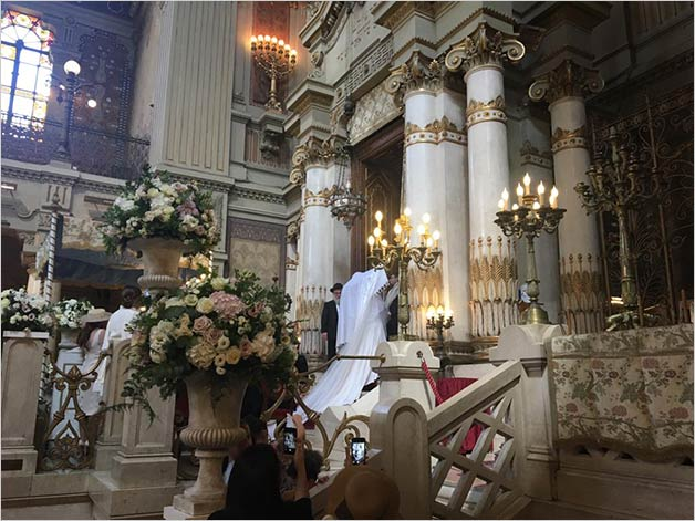 Jewish wedding in Rome july 2019