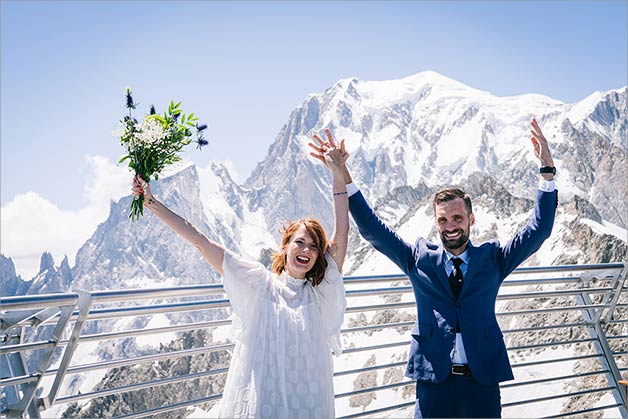 Wedding at the Top of Mont Blanc, Italy