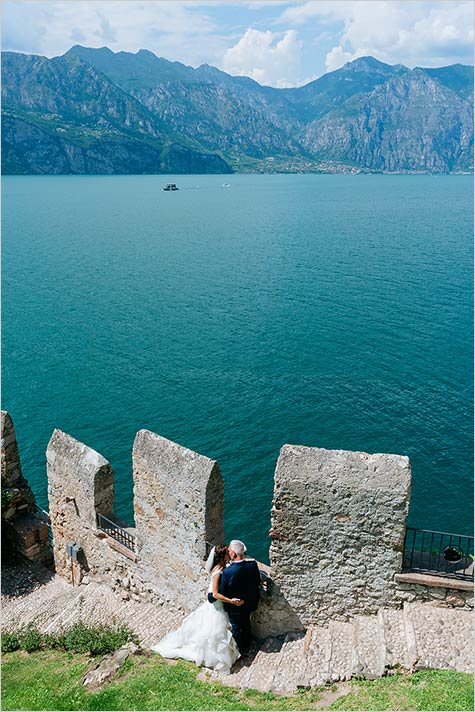Destination wedding at Malcesine Castle