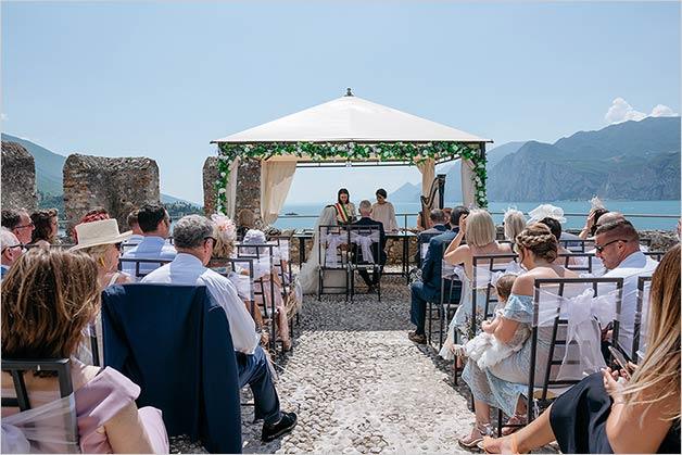 Ceremony overlooking Lake Garda