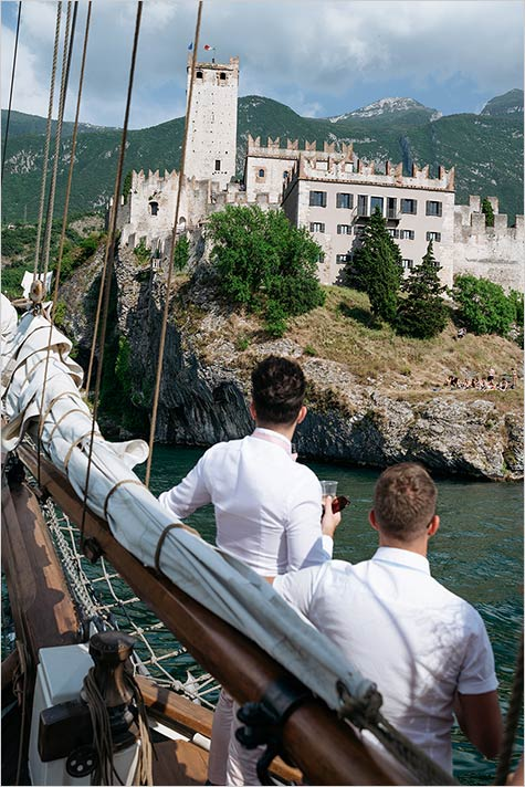 Wedding cruise on Lake Garda