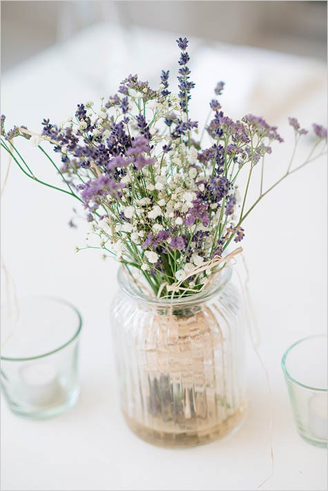 Lovely centerpieces with lavender