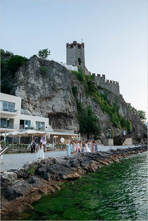 Wedding reception at Malcesine Castle restaurant
