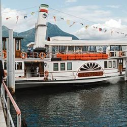 A Wedding Reception on a Vintage ferry boat on Lake Maggiore