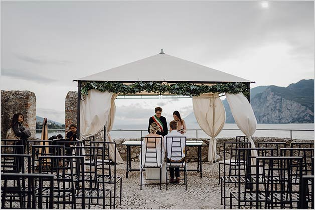 Malcesine Castle wedding in September