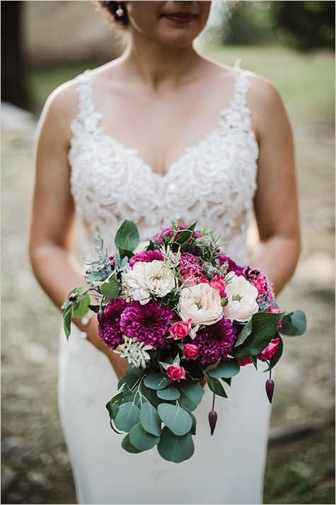 country chic style bouquet