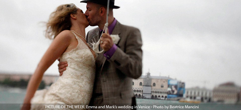 Wedding in Venice: Who'll stop the rain