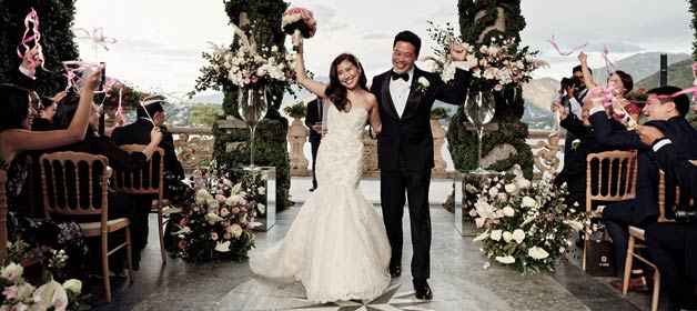 Amanda and Samson, a romantic wedding on Lake Como