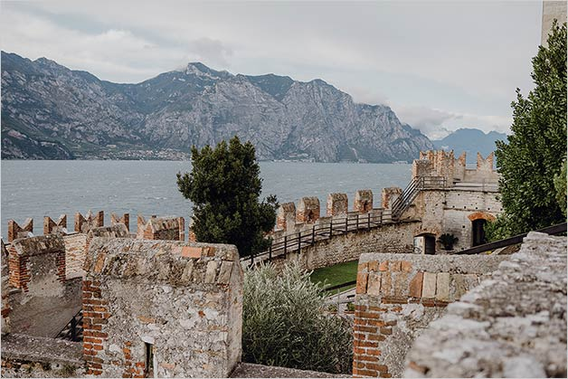 Ceremony on a terrace overlooking Lake Garda