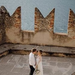 An intimate wedding at Malcesine Castle
