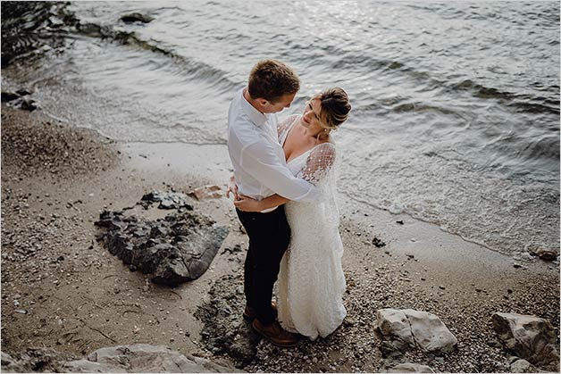 intimate wedding at Malcesine Castle