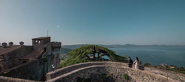 A romantic Elope at Odescalchi Castle on Lake Bracciano