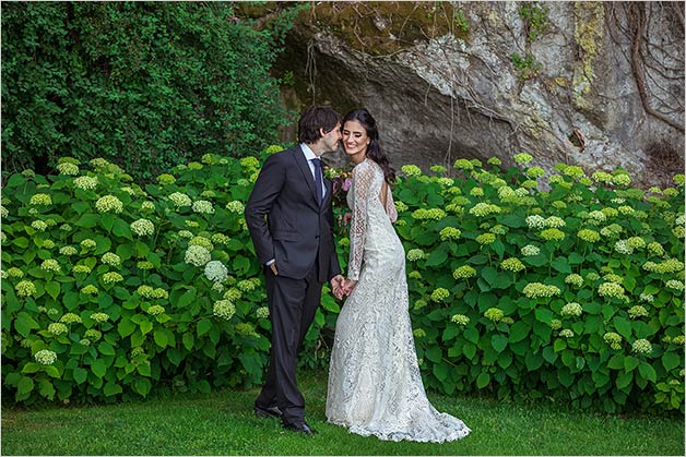 wedding photos on Lake Bracciano