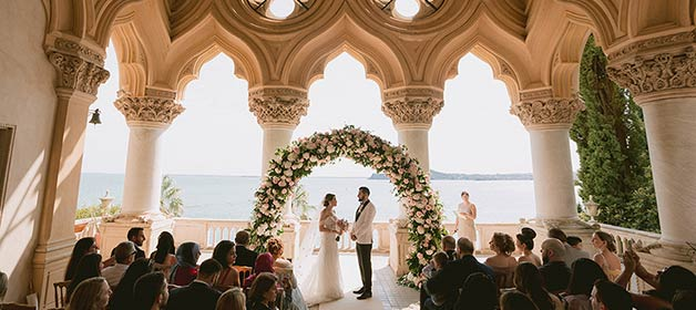 Luxury wedding on Isola del Garda
