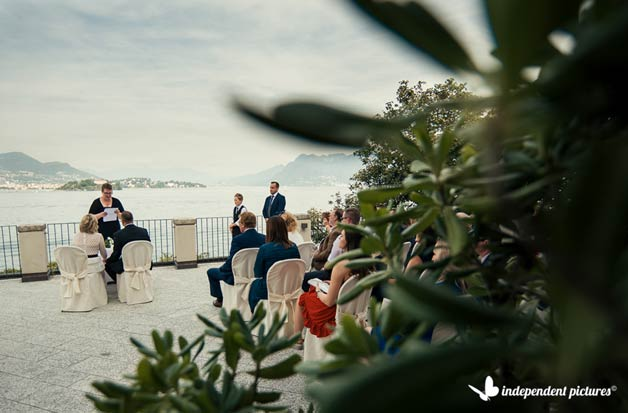 Outdoor Wedding Ceremony on Borromean Islands