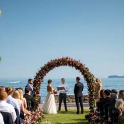A happy wedding in Gardone Riviera on Lake Garda