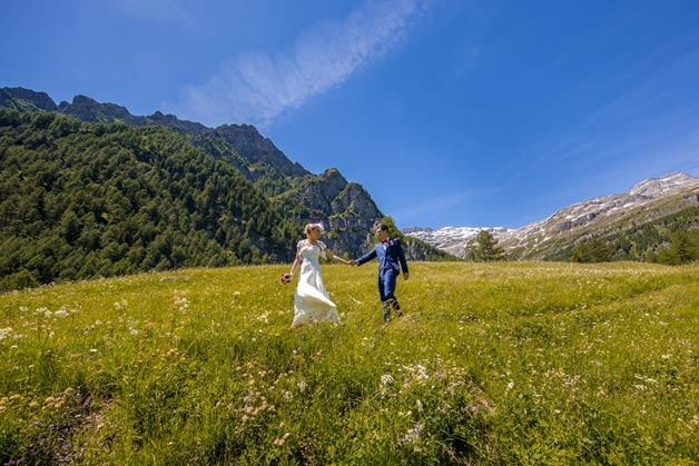 The Alps and Lake Orta, a wonderful Wedding in Italy