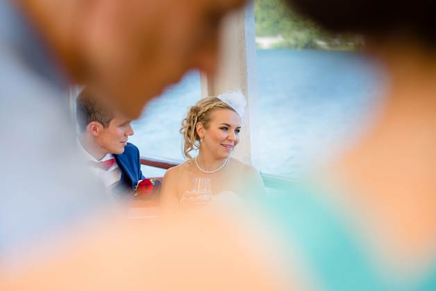 wedding reception on Lake Orta