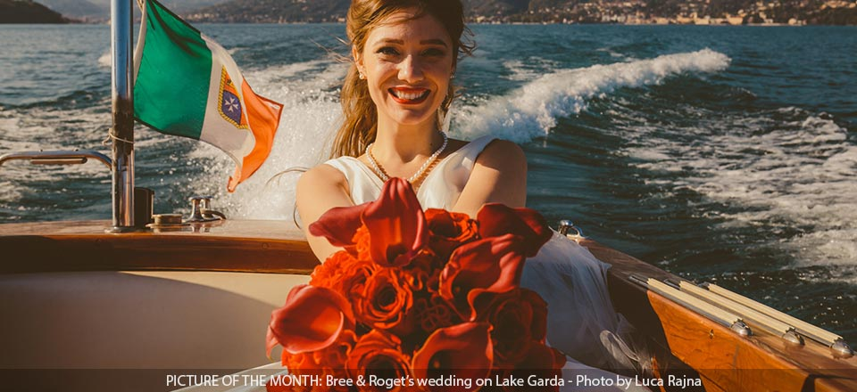 Picture of the month August 2020 wedding on Lake Garda