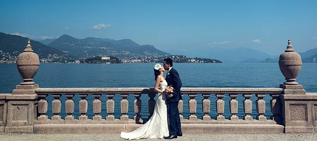 Orange Themed Wedding on Lake Maggiore
