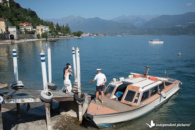 Outdoor Wedding Reception by Lake Maggiore Shores