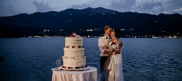 romantic Lake Orta wedding