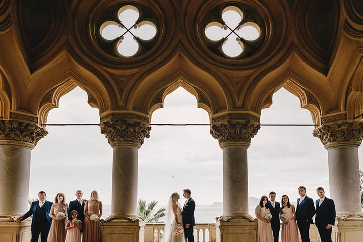 chic wedding on Isola del Garda