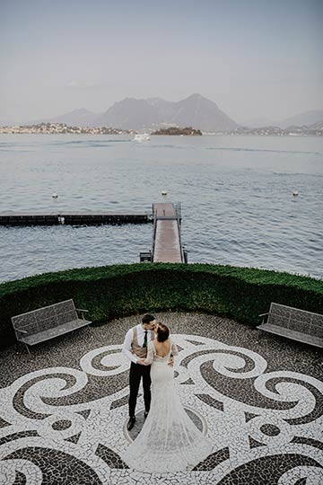 chic wedding on Lake Maggiore