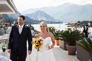 civil ceremony at Villa Giulia lake Maggiore