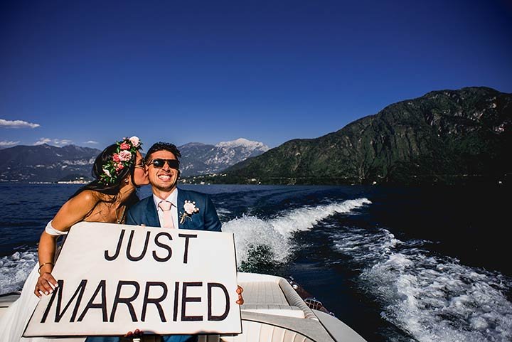 Fun wedding Lake Como