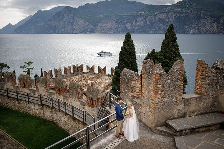 Malcesine Castle wedding Lake Garda