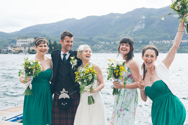 natural wedding on Lake Orta
