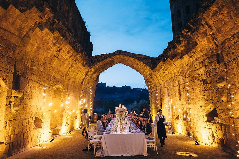 wedding in Orvieto Umbria countryside