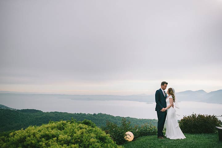 romantic wedding lake Garda