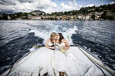 Same-Sex LGBT wedding on Lake Orta Italy