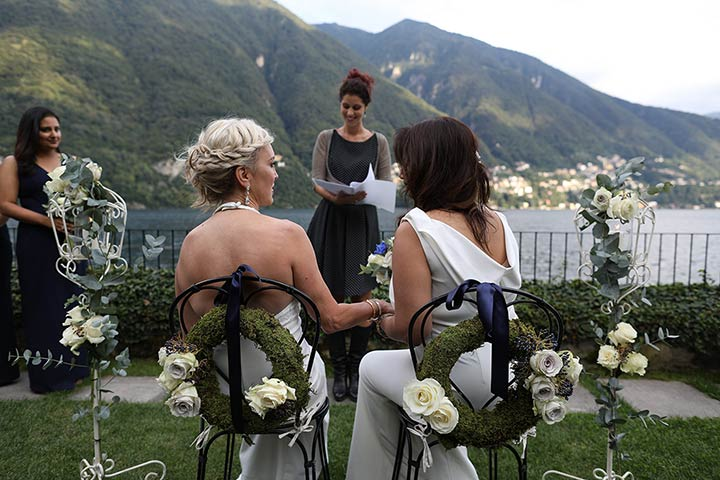 same sex wedding lake Como